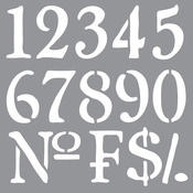 Olde World Numbers - Americana Decor Stencil