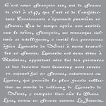 Old French Script - Americana Decor Stencil