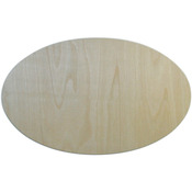 "Oval 7.75""X12.5"" - Baltic Birch Plaque"