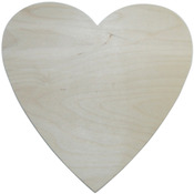 "Heart 10""X10"" - Baltic Birch Plaque"