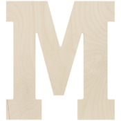"""Letter M - Baltic Birch Collegiate Font Letters & Numbers 13.5"""""""