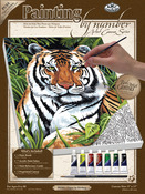 """Tiger In Hiding - Paint By Number Kits 9""""X12"""""""
