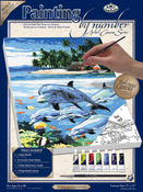 """Dolphin Island - Paint By Number Kits 9""""X12"""""""