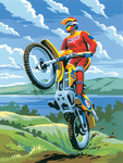 "Motocross - Junior Small Paint By Number Kit 8.75""X11.75"""