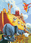 "Noah's Ark - Junior Small Paint By Number Kit 8.75""X11.75"""