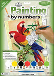 "Bamboo & Parrots - Junior Small Paint By Number Kit 8.75""X11.75"""