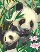 "Panda & Baby - Junior Small Paint By Number Kit 8.75""X11.75"""