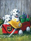 "Fire Wagon - Junior Small Paint By Number Kit 8.75""X11.75"""
