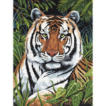 "Tiger In Hiding - Junior Small Paint By Number Kit 8.75""X11.75"""