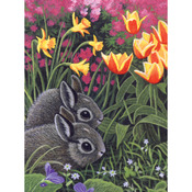 "Spring Bunnies - Junior Small Paint By Number Kit 8.75""X11.75"""