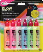 Glow - Tulip 3D Fashion Paints 1.25oz 6/Pkg