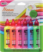 Neon - Tulip 3D Fashion Paints 1.25oz 6/Pkg