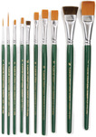 One Stroke Brush Set, 10/Pkg - Plaid