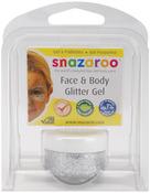 Silver - Snazaroo Face & Body Glitter Gel 12ml
