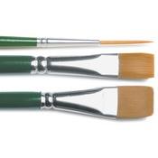 "#2 Script, #12 Flat, 3/4"" Flat - One Stroke Brush Set"