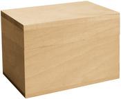 Basswood Hinged Recipe Box