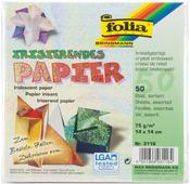 Crystal Embossing Folia Iridescent Origami 6 x6 Paper