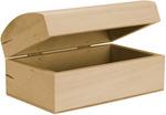 Basswood Rounded Hinged Box