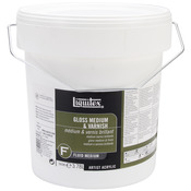 1 Gallon Bucket - Liquitex Gloss Acrylic Fluid Medium & Varnish