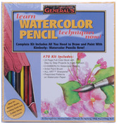 Learn Watercolor Pencil Techniques Now! Kit-