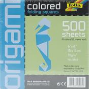 """Folia Solid Origami Paper 6""""X6"""" 500/Pkg-"""