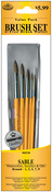 Round 1,3,5,7,9 - Brush Set Value Pack Sable 5/Pkg