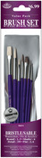 Brush Set Value Pack Bristle/Sable 7/Pkg - Round 1,5,5 Shader 6 Flat 2,6 Detail