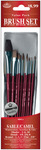 Brush Set Value Pack Sable/Camel 10/Pkg - Shd 2,6,10 Dt 3,2,0 Rnd 1,3,5 Flat 5/8