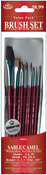 Brush Set Value Pack Sable/Camel 10/Pkg - Shd 2,6,10 Dt 3,2,0 Rnd 1,3,5 Flat 5/8