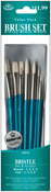 Round 1,3,5,8 & Flat 1,3,5,8 - Brush Set Value Pack Bristle 8/Pkg