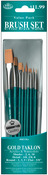 Brush Set Value Pack Gold Taklon 10/Pkg - Shd 2,6,10 Rnd 1,3,5 Dt 3,2,0 Flat 5/8