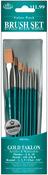 Brush Set Value Pack Gold Taklon 10/Pkg - Shd 2,6,10 Rnd 1,3,5 Dt 3,2,0 Flat 5/8