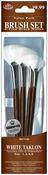 Fan 1,2,4,6 - Brush Set Value Pack White Taklon 4/Pkg