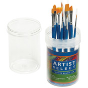 Gold Nylon - Artist Select Short Handle Brush Tub Assortment 12/Pkg