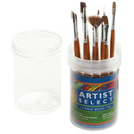 Natural Ox Hair - Artist Select Short Handle Brush Tub Assortment 12/Pkg