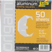 """Folia Aluminum Origami Paper 6""""X6"""" 50/Pkg-"""
