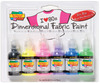 80s Pop - Scribbles 3D Fabric Paint 1oz 6/Pkg TULIP-Scribbles Dimensional Fabric Paint Set.  Scribbles are great for all kinds of projects!  Apply to denim, t-shirts, shoes, back-packs, purses, jewelry, frames, lamps and shades, pillows, wood and many other types of surfaces.  Scribbles dimensional fabric paints have been around for a long time, nothing new there.  What is new are these great multi-packs put together in palettes to please any theme.  This package contains six 1oz/29.5ml shatterproof bottles with writer tips.  Clothing items can be washed per fabric manufacturers instructions after approximately 72 hours.  Conforms to ASTM D4236.  Imported.