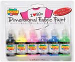 80s Pop - Scribbles 3D Fabric Paint 1oz 6/Pkg