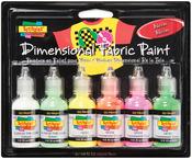 Neon - Scribbles 3D Fabric Paint 1oz 6/Pkg
