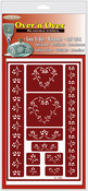 """Hearts - Over 'N' Over Reusable Glass Etch Stencils 5""""X8"""" 1/Pkg"""