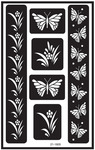 "Butterfly - Over 'N' Over Reusable Glass Etch Stencils 5""X8"" 1/Pkg"