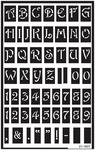 "Large Alphabet - Over 'N' Over Reusable Glass Etch Stencils 5""X8"" 1/Pkg"