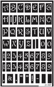 "Large Alphabet - Over 'N' Over Reusable Glass Etch Stencils 5""X8"" 1/Pkg"