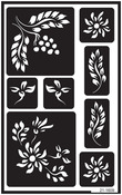 """Berries - Over 'N' Over Reusable Glass Etch Stencils 5""""X8"""" 1/Pkg"""