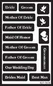 "Wedding - Over 'N' Over Reusable Glass Etch Stencils 5""X8"" 1/Pkg"