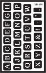 "Full Alphabet - Over 'N' Over Reusable Glass Etch Stencils 5""X8"" 1/Pkg"