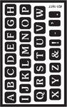 "Full Alphabet - Over 'N' Over Reusable Glass Etch Stencils 5""X8"" 1/Pkg"
