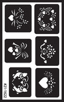 "Assorted - Over 'N' Over Reusable Glass Etch Stencils 5""X8"" 1/Pkg"