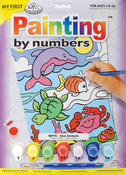 """My First Paint By Number Kit 8.75""""X11.375""""-Sea Animals"""
