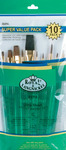 "Brush Set Super Value Pack Sable/Camel Ultra Short 10/Pkg - Flat 5/8"" Dtl 3,2,0"